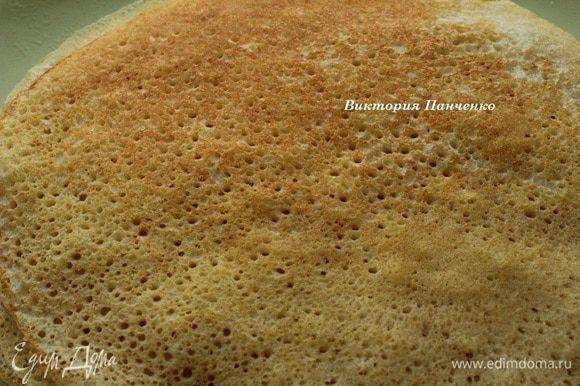 Блины получаются пышные и дырчатые)))))))))))))))))))))) Очень вкусные!!! Подавать, смазав сливочным маслом и со сметаной...