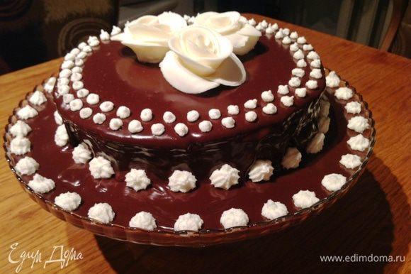 И вот такой торт у меня получился в итоге.