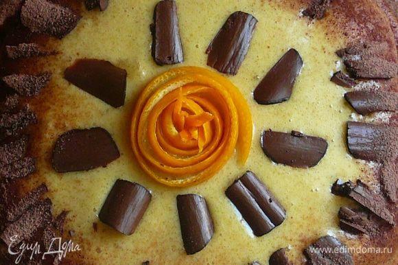 Украшаем шоколадной крошкой цедрой апельсина или на что хватит фантазии.