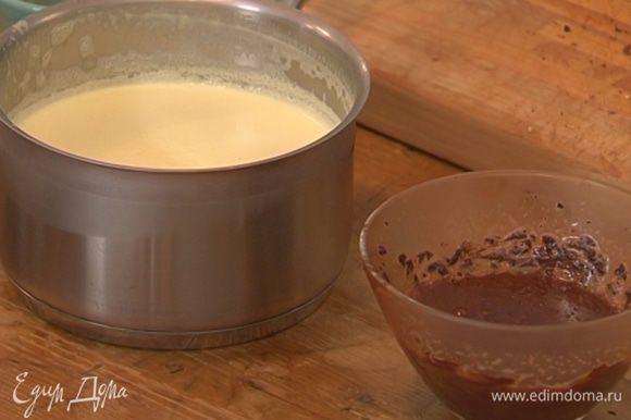 Оба крема остудить в морозильнике.