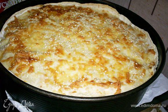 Вынимаем готовый пирог или лазанью))), даем постоять минут 10 (если сможете столько выдержать)и нарезаем на порции. Невероятно вкусно как в теплом, так и в холодном виде.