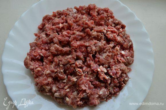 Подготовьте бараний фарш. Я использовала фарш из свежего рыночного мяса, средней жирности (лучше не брать слишком постный фарш).