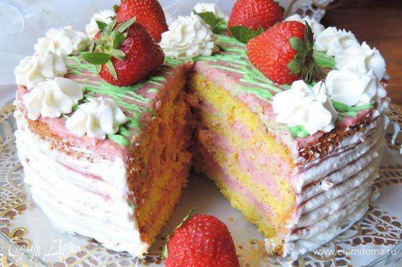А вот и наш торт в разрезе!