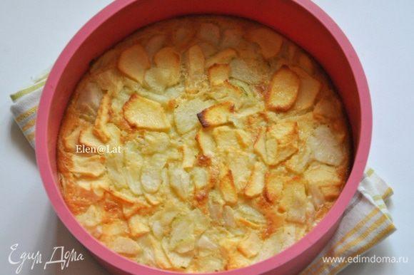 В заранее разогретой до 200С духовке, выпекать пирог минут 25. Готовый пирог тверденький при надавлевании.