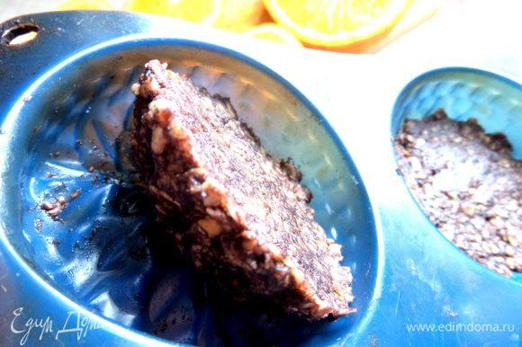 Как видите,печенье застыло и легко выпрыгивает из силикона)))