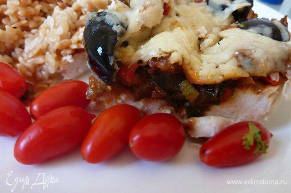 Очень рекомендую - Рататуй с курицей от Ирины - burro.salvia http://www.edimdoma.ru/retsepty/66512-ratatuy-s-kuritsey Рецепт находка,очень вкусно и быстро!
