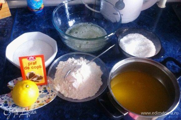 Для приготовления кекса нам понадобится очень простой набор продуктов.