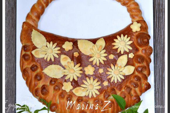 В работе над пирогом опиралась на рецепт и идею своих подруг - Зарины и Светланы Баста, за что им огромное спасибо!