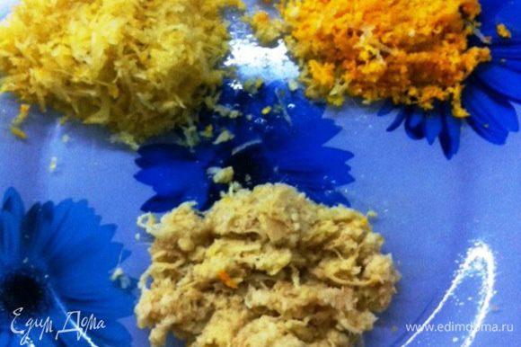 Апельсиновую и лимонную цедру, также корень имбиря.