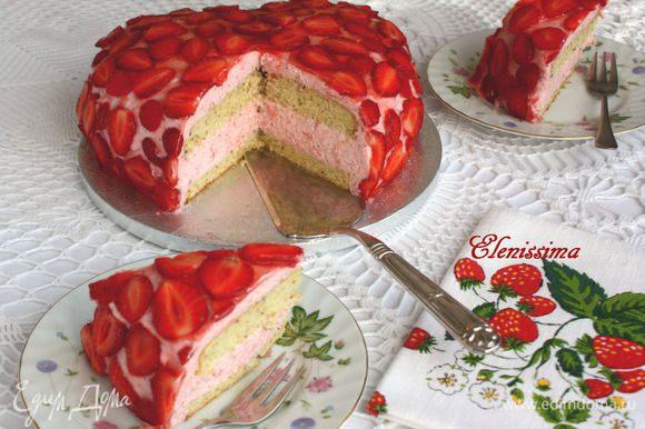 Приятного аппетита! Наслаждайтесь красивым и лёгким десертом!