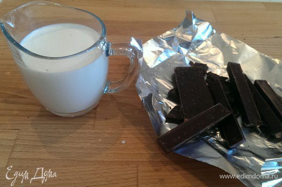 Для глазури: шоколад натереть на терке. Сливки довести до кипения и влить в шоколад. Очень хорошо перемешать и дать немного остыть. По моему мнению, это самый удачный рецепт глазури.