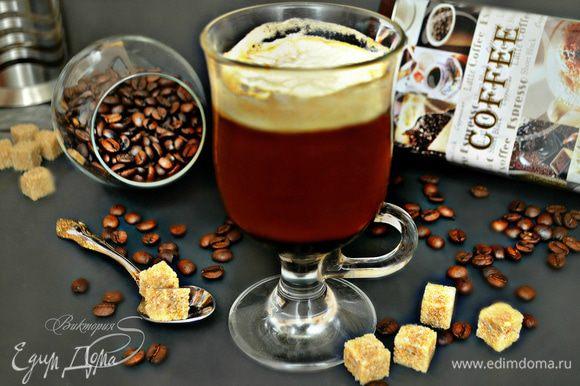 Коктейль готов! Пить коктейль ирландский кофе нужно не перемешивая, большими глотками. Приятного аппетита!