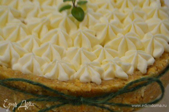 Освободить десерт от формы и можно подавать!