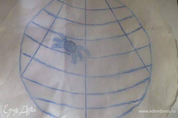 Берем пергамент, с одной стороны рисуем нужный рисунок. Переворачиваем его рисунком вниз. Пергамент смазываем растительным маслом.