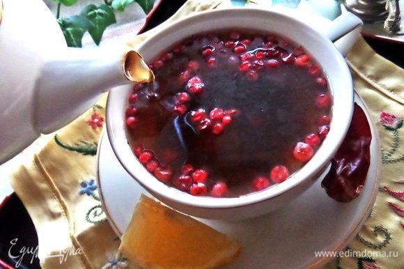 И пьём вкуснейший чай, закусывая ягодами :)