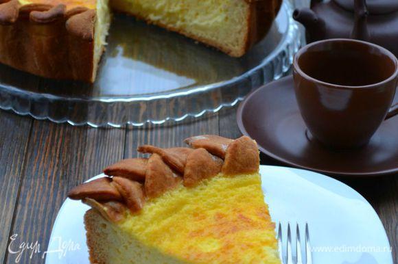 Готовый пирог нужно хорошо остудить перед подачей.