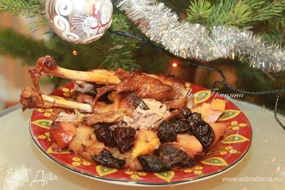 Если у вас после праздников остался гусь... Думаю, подойдёт также куриное или утиное мясо. Вес готового мяса даю условно.