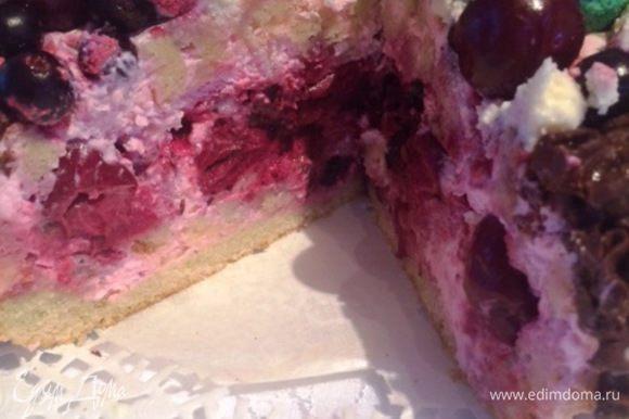Вот так торт выглядит в разрезе.