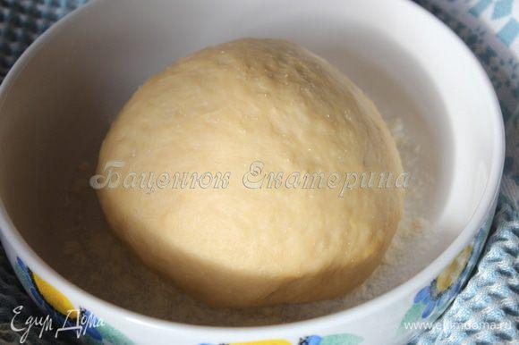 Первым делом замесите тесто. Смешайте просеянную муку с солью и дрожжами. Введите в сухую смесь яйца. Затем, наблюдая за консистенцией теста, вмешиваем небольшое количество холодной воды. Тесто не должно стать липким. Должны начинать образовываться слипшиеся части, но еще рассыпаться. Введите ароматное кунжутное масло Biolio. Оно придаст неповторимую изюминку и мягкость тесту, что подчеркнет восточные нотки вашего блюда. Тесто должно слегка липнуть к рукам. Хорошо вымесить тесто на доске, пока тесто не перестанет липнуть. Не добавляя муки! Иначе тесто получится излишне упругим, а готовое блюдо — жестким. Накрываем тесто слегка влажным полотенцем и оставляем отдыхать.