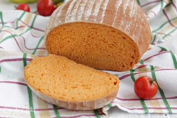 Хлеб остудить.