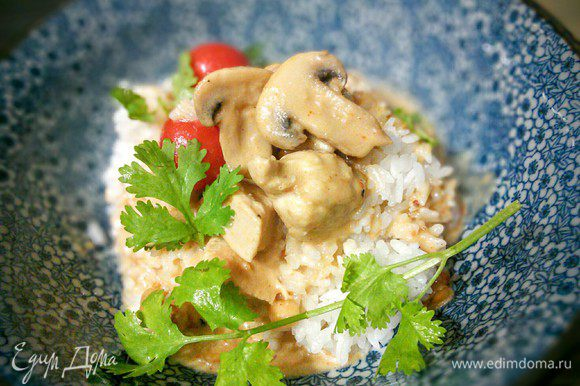 Идеальный гарнир — это рис. Приятного аппетита!