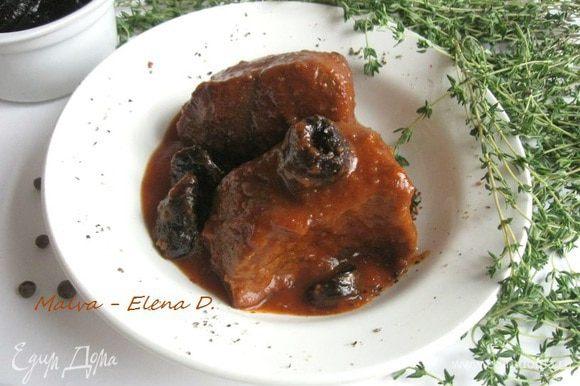 Перед подачей полить соусом из-под мяса. Приятного аппетита!
