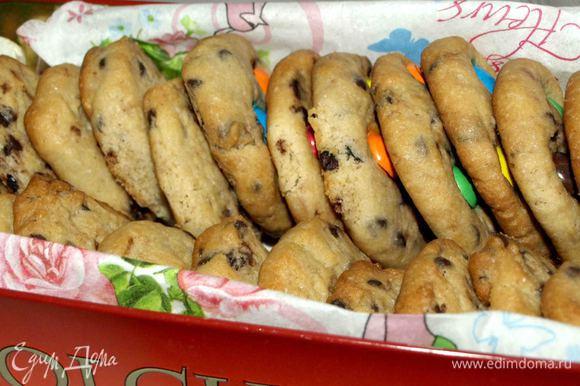 Даем печенью остыть 10 минут, и можно есть. С молоком, чаем, кофе или какао) Приятного аппетита! Bon Appetit!
