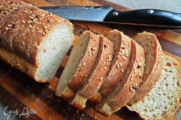 Используем хлеб домашний или покупной для сэндвичей. Рецепт хлеба будет позже.