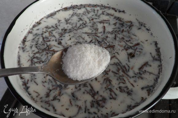 Ставим на медленный огонь и добавляем соль.