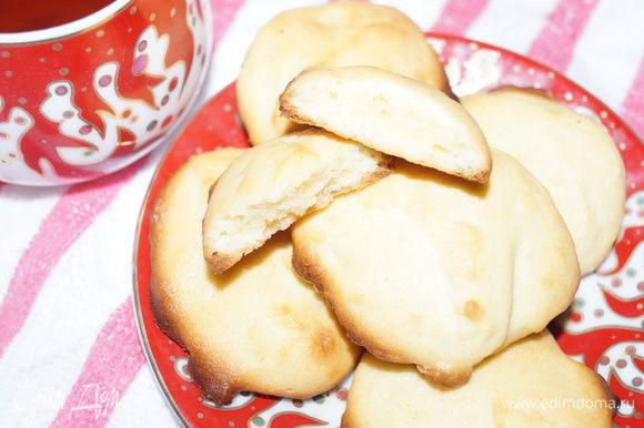Наливаем чашечку чая или кофе и наслаждаемся этим ароматным печеньем. Приятного чаепития!