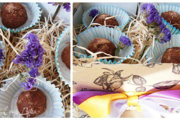 Из данных продуктов получается 24 конфетки. Орехи можете менять по своему вкусу.