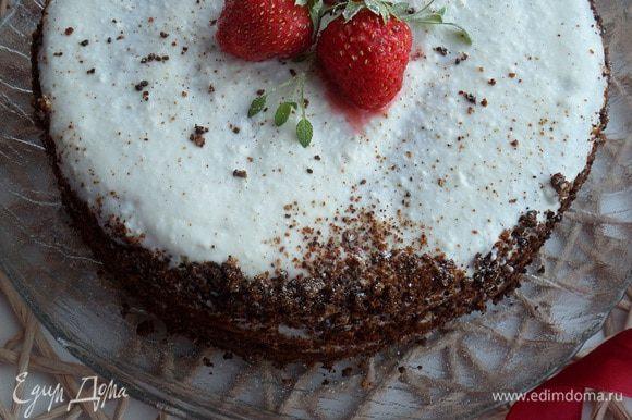 Подаем пирог-торт.