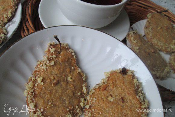 Подаем к чаю и наслаждаемся вкусом груши с ароматом корицы и апельсина.
