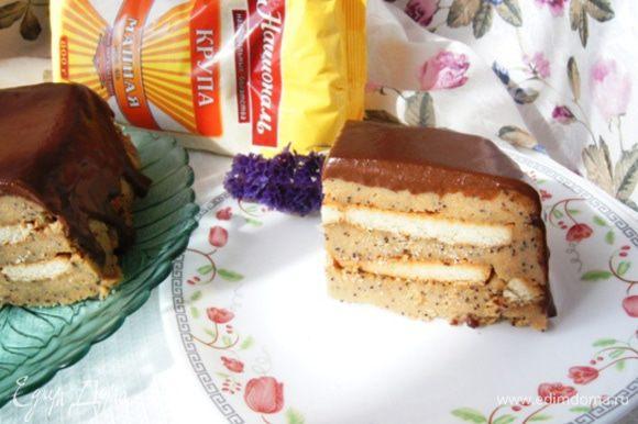 Кусочек этого десерта, который дети мои назвали не иначе как торт!