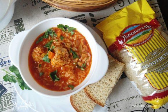 Ароматный, густой, в меру пряный суп готов!