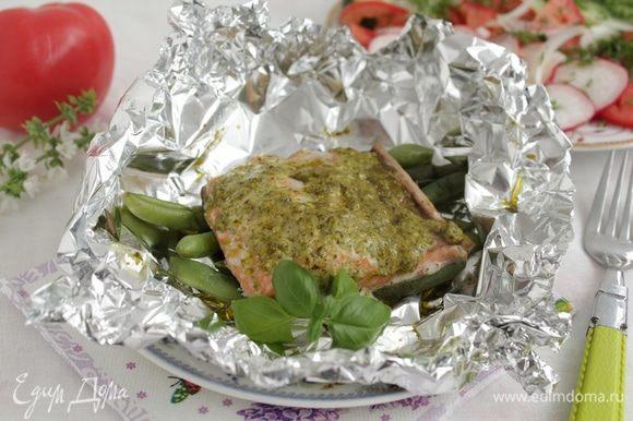 Блюдо должно запекаться в течение 15-20 минут до готовности.