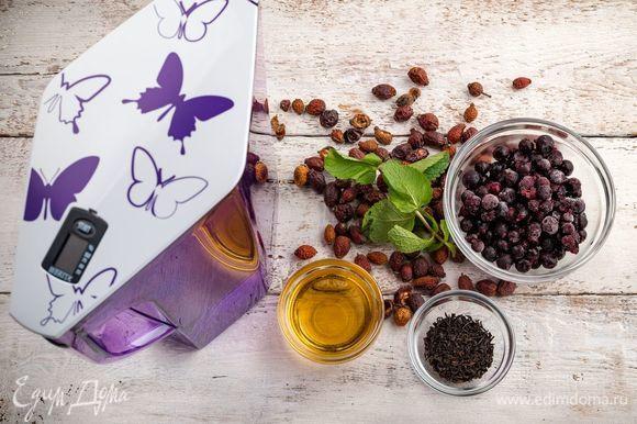Для приготовления витаминного чая нам понадобятся следующие ингредиенты.