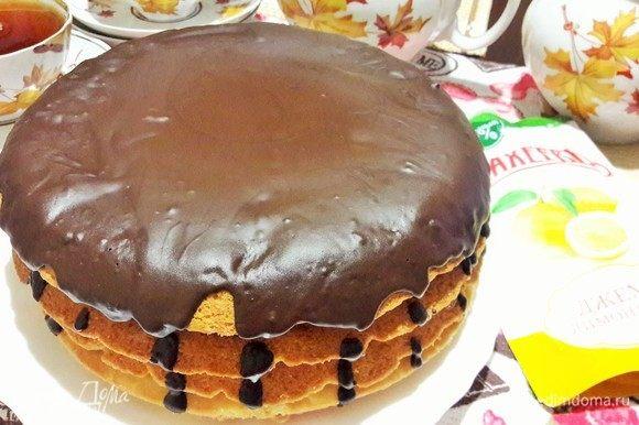 Торт готов! Угощаемся.