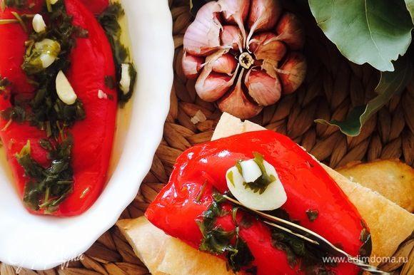 Наша вкусная и ароматная закуска из красного болгарского перца готова!Приятного аппетита!!!!