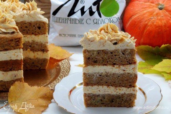 Разрезаем тортик на кусочки и наслаждаемся вкусом и пользой!