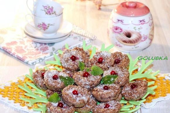 Проверяйте готовность печенья через 20 минут на сухую спичку.