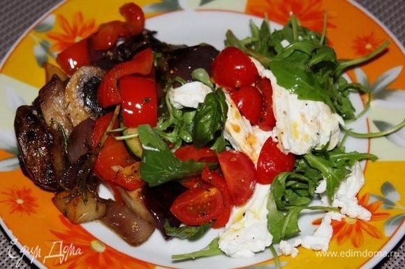 Овощи готовы, разложите по тарелкам. Приятного аппетита! Buon appetito!