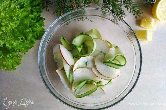 Отправляем яблоко в тарелку.