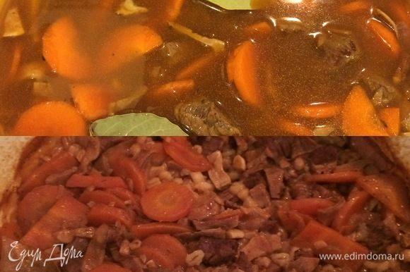 Накрыть крышкой и отправить в духовку на 2 часа (до готовности мяса).
