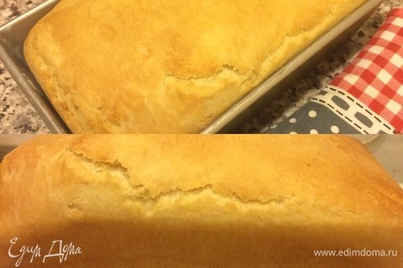Спустя 25 минут снять фольгу и выпекать еще 20-30 минут, но смотрите чтобы хлеб очень не подрумянился!!!