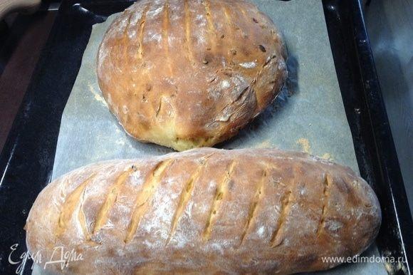С другой стороны взглянем. Любуемся:) Хлеб же чуть остывает в это время и «отдыхает».
