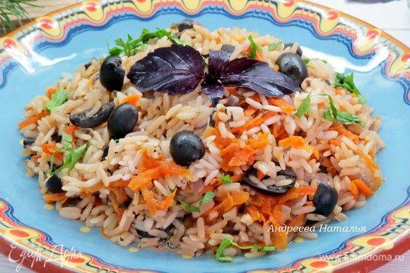 Наш рис готов, приятного аппетита!