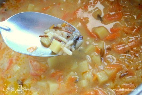 Итак, проверяем готовность супа.