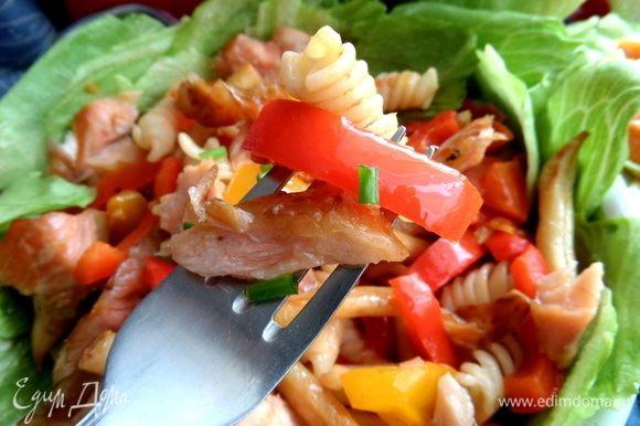 Предлагаю отведать итальянский салат со знакомыми продуктами!
