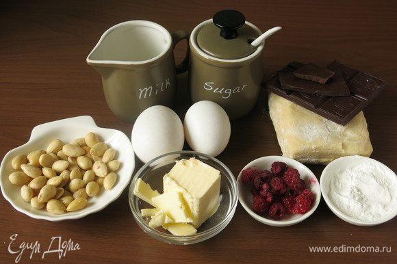 Готовим начинку, подготовим продукты, масло заранее достанем из холодильника.